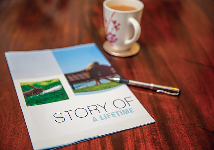 Story of a lifetime booklet